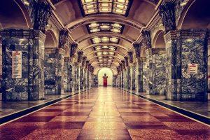 stazione ferroviaria con marmo